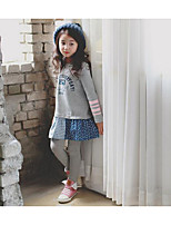 Girl's Going out Patchwork Dress / Overall & JumpsuitCotton Spring / Fall Gray