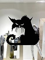 Black Cat  Halloween Window Stickers 2015 New Fashion Wall Stickers Home Decor