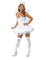 Costumes Plus de costumes Halloween Blanc Couleur Pleine Térylène Robe / Plus d'accessoires