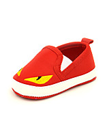 Unisex Flats Spring Fall Mary Jane Canvas Casual Flat Heel Others Blue Red Others