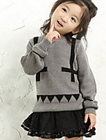 Girl's Casual/Daily Print Sweater & CardiganCotton Winter White