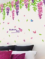 Floral / Árvores/Folhas / Art Deco Papel de Parede Para Casa Contemporâneo Revestimento de paredes , PVC/Vinil Material adesivo necessário