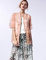 nueva antes de las mujeres a salir de la calle elegante de primavera / verano jacketssolid pie de manga larga