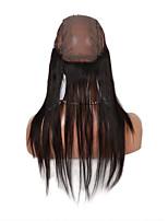 360 кружево полоса лобные закрытия прямой уха до уха LACEL закрытия с ребенком бразильца девственной закрытия шнурка человеческих волос