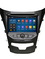 2 din 7 quad-core wi-fi 1024 * 600 android 5.1.1 do carro DVD GPS para 2014 Ssangyong Korando