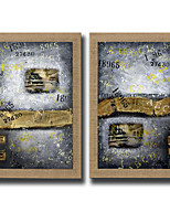 2 Panels Oil Painting Abstract Wall Art Pictures Hand Painted On Natura Linen With Stretched Frame Ready To Hang
