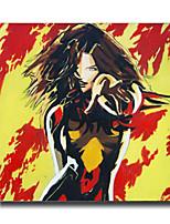Handgeschilderde Abstract / Beroemd / Mensen / Cartoon Olie schilderijen,Modern Eén paneel Canvas Hang-geschilderd olieverfschilderij For