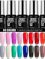 Nail Polish Gel UV 7ml 1 soak Off / Purpurina / Gel de Côr UV / Gelinho / Neutro / Cintilante Mergulhe off de Longa Duração