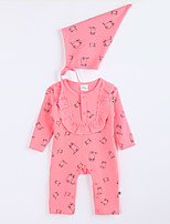 Girl's Casual/Daily Print Overall & JumpsuitCotton Fall Red