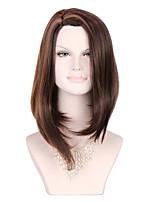 синтетические парики 2028 '' длинный коричневый парик ломбера курчавые волнистые прямые волосы