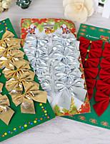 12pcs серия елочных украшений лук рождественские украшения для дома