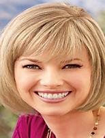 Rubio Color de corto pelucas rectas sin tapa pelucas sintéticas para mujeres