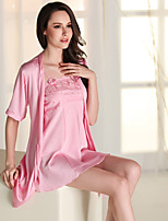Girl&Nice Women's Rayon Robes Suit-P8002