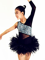 Ballet Outfits Women's / Children's Performance Spandex / Lace / Sequined / Tulle / Sequins 3 PiecesDark
