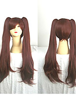 80cm Anime Akazawa Izumi of Another Cosplay Wig Synthetic Long  Brown Costume Wig2 Ponytails