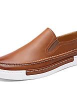 Черный / Коричневый-Мужской-Для офиса / На каждый день-Синтетика-На плоской подошве-Удобная обувь-Мокасины и Свитер
