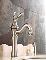 Contemporary /Art Deco/Retro Centerset Widespread /Pre Rinse with  Ceramic Valve Single Handle Two Holes for