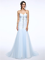 Lanting Bride® Fit & Flare Wedding Dress Court Train Sweetheart Tulle with Beading / Ruche