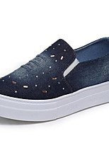 Women's Loafers & Slip-Ons  Comfort Canvas / Denim Outdoor / Athletic / Casual Platform Others Blue Sneaker