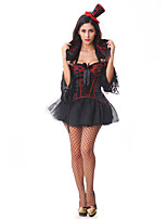Cosplay Costumes / Party Costume Vampire Festival/Holiday Halloween Costumes Red/Black Lace Top / Dress / Hats / More Accessories