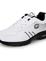Men's Sneakers Spring / Fall Comfort / Round Toe PU Athletic Flat Heel Lace-up Black / White Sneaker
