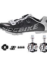 Cycling Shoes Unisex Outdoor / Mountain Bike Sneakers Damping / Cushioning Black-sidebike