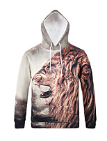 Inspired by 3D Animal Lion Long Sleeve Hoodie Cosplay Hoodies Print Long Sleeve Coat Clothing Round Halloween