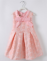 Girl's Casual/Daily Solid DressCotton / Polyester Summer / Spring Pink