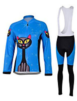 Sports Cycling Jersey with Bib Tights Kid's / Unisex Long Sleeve BikeBreathable / Quick Dry / Windproof / Anatomic Design / Ultraviolet