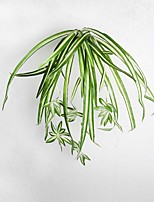 1 Branch Artificial Silk Plants Chlorophytum Wall Hanging Orchid Flower Willows Green Radish Small Bluegrass