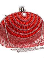 L.west Women elliptic tassel banquet evening bags