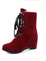 Women's Boots Fall / Winter Snow Boots Leatherette Outdoor / Dress / Casual Flat Heel Others Black / Yellow / Red /