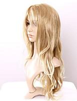 estilo de pelo largo encantador resistentes pelucas onduladas traje barato de calor cosplay peluca rubia rizada peluca mullida