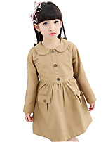 Girl's Casual/Daily Solid DressCotton / Rayon Winter / Spring / Fall Pink / Red / Beige