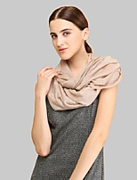 Women Acrylic ScarfCasual Infinity ScarfRed / Black / Brown / Yellow / GraySolid
