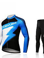 KEIYUEM® Fahrradtrikots mit Fahrradhosen Unisex Langärmelige FahhradAtmungsaktiv / warm halten / Rasche Trocknung / tragbar /