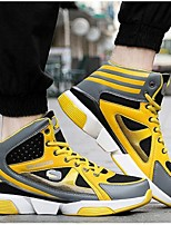 Men's Athletic Shoes Spring / Winter Flats Microfibre Athletic Flat Heel Others Black / Blue / Yellow Basketball