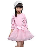 Girl's Casual/Daily Solid DressOthers Summer Black / Pink / Gray