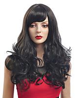черный цвет длинные вьющиеся парики монолитным синтетические парики для женщин афро