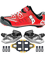 SD003 Cycling Shoes Unisex Outdoor / Road Bike Sneakers Damping / Cushioning Red/Black-sidebike And R540 Rock Pedals