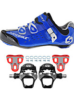SD003 Cycling Shoes Road Bike Sneakers Damping / Cushioning Blue/Black-sidebike And WeigeR251 Rock Pedals