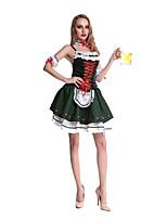 Costumes Uniformes Halloween / Fête d'Octobre Vert Mosaïque Térylène Robe / Plus d'accessoires