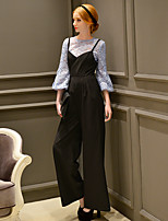 Women's Solid Chinos / Wide Leg PantsVintage / Street chic / Sophisticated