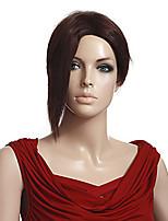 couleur brune courte ligne droite européenne capless perruques synthétiques pour les femmes afro