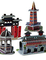 3D Model Puzzle Chinese Architecture Building Educational DIY Toy