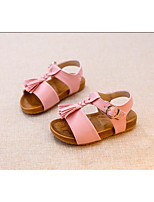 Girl's Sandals Summer Ankle Strap PU Outdoor Flat Heel Others Pink Silver Gold Others