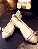 Women's Flats Spring / Fall Comfort Leather Casual Flat Heel Others White Others
