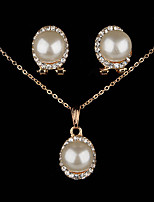 Elegant Luxury Design New Fashion  Silver Gold Plated Colorful imitation pearl  beauty  Jewelry Sets Women Gift