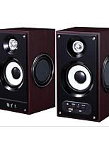 фиолетовый se256 диктор компьютера 220v активный динамик 2 деревянных колонок U диска SD карты акустических систем