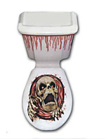Halloween Closestool Decals Bloodcurdling Principal Pattern Random  60*31cm